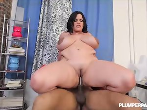 Chesty Curvy Cute bbw Latina Angelina Castro VS BBC