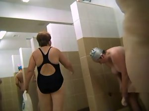Sensual russian housewives in the public shower 2 by Clessemperor
