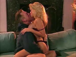 Vintage Chesty Light-haired April Adams Facial and Cum Kiss
