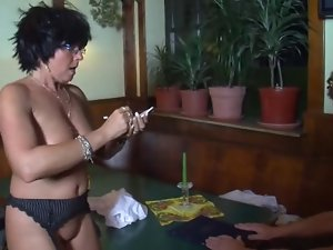 German attractive mature shagged in a bar