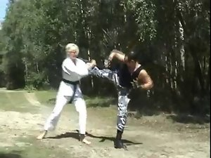 Ballbusted by a Black Belt