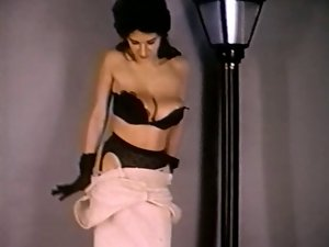 GLOVES AND STOCKINGS - vintage nylons striptease extremely large tits