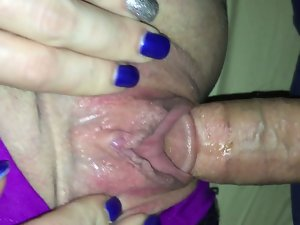 Watch my twat drip when I have some big hard throbbing dick in me!