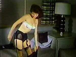 ONE NIGHT - vintage nylons stockings striptease