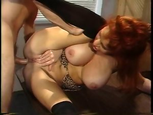 Vintage Red Head Cougar Sex With Prison Guard