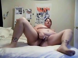 Sensual Plumper Thick friend masturbating dripping muff on cam