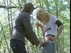 Crazy SEX IN THE FOREST WITH TWO
