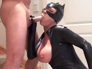 Latex catsuit fuck