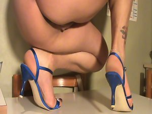 Feet off my dirty wife shoeplay