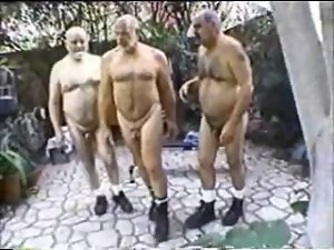 Three Older Daddies Stroking and Shagging