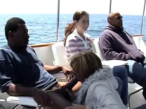 shocking interracial on a boat