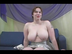 Chunky Titted Rowan Gets Her Fatty Butt Banged
