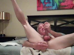 hungry bum hole find enjoyment in self cum drenched toy