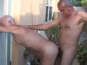 Four Daddies grinding and cool cum eating