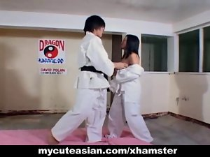 Filipina bitch banged brutal after karate