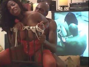 Strapped & Tied Vanessa Blue gets banged by Lexington Steele