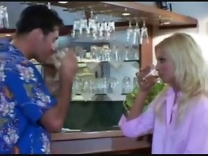2 sensual blondie housewives share the pecker