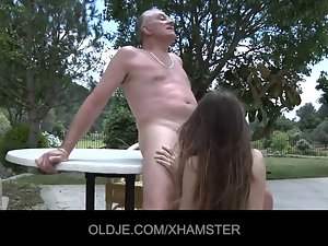 Filthy young tricks aged man to fuck