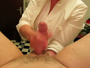 Nurse handling, fisting, cum, huge load, nursing