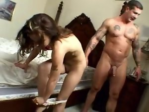 Cuck-Slut banged by 2 bikers - Boy on the phone