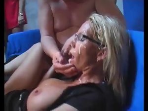 experienced blondie bukkake