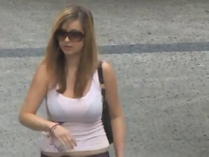 big titted in the street