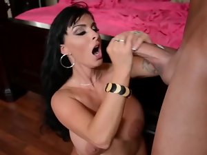Holly Halston gets cumshot from extremely huge shaft