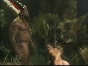 Buxom Dark haired Gets Banged By Jungle BBC Monsters