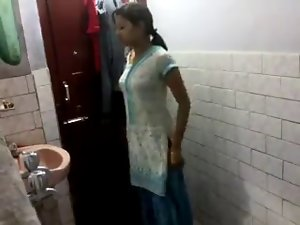 Sensual indian babe in bathroom
