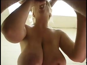 Huge Boobed Weeny Nicky Tease Dick sucking and Facial