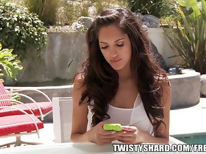 Sensual 19 years old bitch gets revenge on her Girlfriend by screwing her man