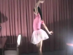 Asian Ballerina demonstrates us her secret
