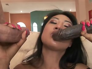 Attractive Asian Venus Layla Lei Double Penetrated Interracially
