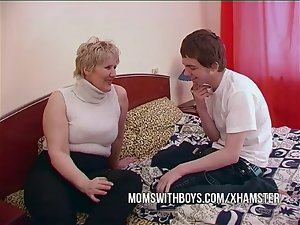 Thick Aged Mamma Seduces Sons Friend