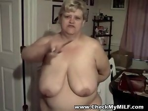 Check my Mummy - Cute bbw granny Cougar with saggy big melons
