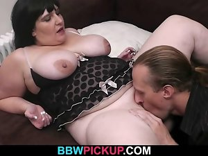 Filthy dark haired gets her obese hole plowed