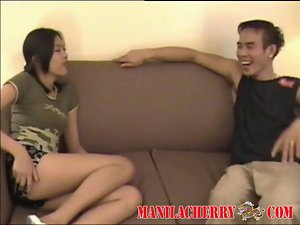 Raunchy teen Filipina lezzies enjoing shaven fresh 18 years old snatch