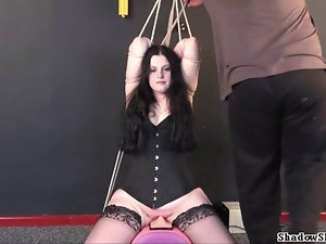 Amateur sybian bondage and extreme private fetish film