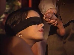 Dalila blindfolded facial