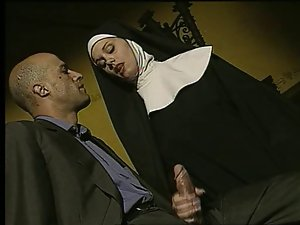 Big titted Nun Gets Grinded In Study (Poor Sound)