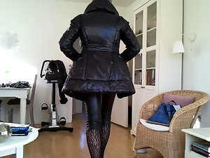 Sissy luscious preppy leather