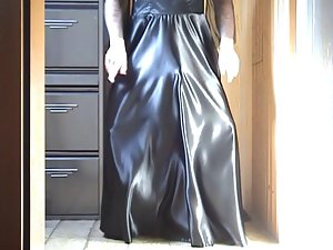 Black Satin Dress 01