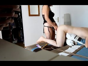 Amateur Strapon couple pegging