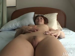 Seductive japanese shaven mother Mao Hosaka used by 19 years old fellow