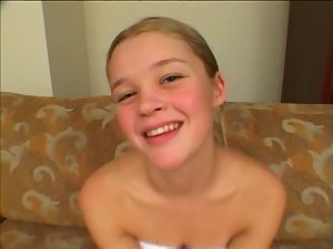 Christine 19 years old dick sucking and cum in mouth