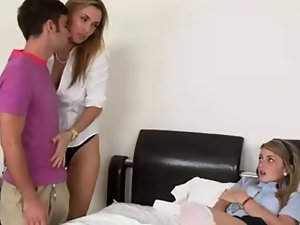 Attractive mom Seduces Shy 18 years old Girl...F70