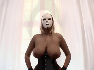 Dominas in corset and nylons - Large melons and pumped cunt