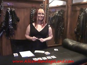 You Bet Your Pecker Chastity Card Game FemDom Mistress Point of view