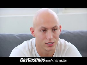 GayCastings hairless erotic dancer gets smooth firm butt load