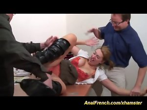 her first crazy threesome action backdoor fuck
